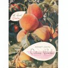 Vintage All About Peaches Sweet Sunny Ontario Peaches Cookbook 1953