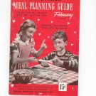Vintage Health For Victory Meal Planning Guide February 1944