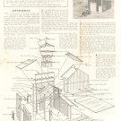 1875 Fire House Campbell Scale Models HO Assembly Instructions Train