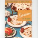 Entertaining Six Or Eight Cookbook Vintage Culinary Arts 115 1956