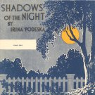 Vintage Shadows Of The Night Sheet Music Oliver Ditson Company