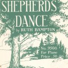 Vintage The Shepherds Dance Sheet Music J. Fischer & Bro.