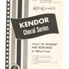 Vintage Calls To Worship And Responses Choral Series Music Sheet Music Kendor Music Inc.