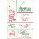 Festive Christmas Foods Cookbook Regional New York Rochester Gas & Electric RGE