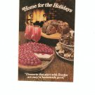 Home For The Holidays Cookbook / Pamphlet By Borden