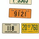 Lot Of 4 Assorted License Plates Miniature Maine N.W.T. Dist. Columbia Prince Edward Island