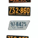 Lot Of 4 Assorted License Plates Miniature Georgia North Carolina Tennessee Vintage
