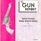 The Gun Report June 1973 American Percussion Sideplate Removable Revolvers