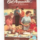 Vintage Stanley Hostess Customer Catalog  Get Acquainted With Stanley Home Products 30th Year