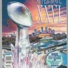 Souvenir Official Super Bowl XXVI 26 Program Redskins  Bills