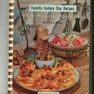 Favorite Eastern Star Recipes Old Family Favorites With Menus Cookbook Vintage