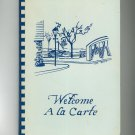 Regional Welcome A la Carte Cookbook Fairport Welcome Wagon New York 1978