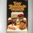 Easy Homemade Desserts With JellO Pudding Cookbook First Edition Jell-O Jell O