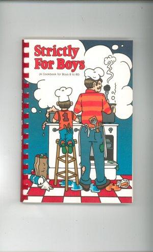 Strictly For Boys Cookbook Betty L. Waskiewicz 0918544475