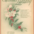 Vintage Christmas Lullaby Sheet Music Edwards Music Co.