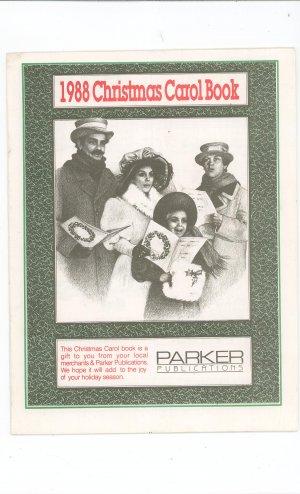 1988 Christmas Carol Book Local Advertising Parker Publications Plus New York