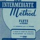 Vintage Intermediate Method Flute Or Piccolo Rubank Inc. Library Number 75