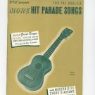 Vintage More Hit Parade Songs For The Ukulele Bregman Vocco & Conn Inc. 1962