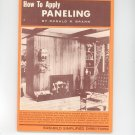 How To Apply Paneling Easi Bild 605 By Donald Brann Vintage 1965