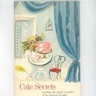 Cake Secrets Cookbook Vintage Swans Down Cake Flour