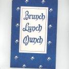 Brunch Lunch Munch Cookbook Regional Methodist Church New York