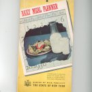 Vintage Daily Meal Planner Cookbook Plus 1941 Bureau Of Milk Publicity New York