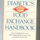 The Diabetic's Food Exchange Handbook By Andrea Barrett Hard Cover 089471256x