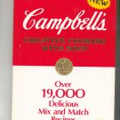 Campbell's Creative Cooking With Soup Cookbook Hard Cover  0881762024