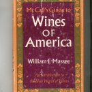 McCall's Guide To Wines Of America By William Massee Hard Cover Vintage 0841500592