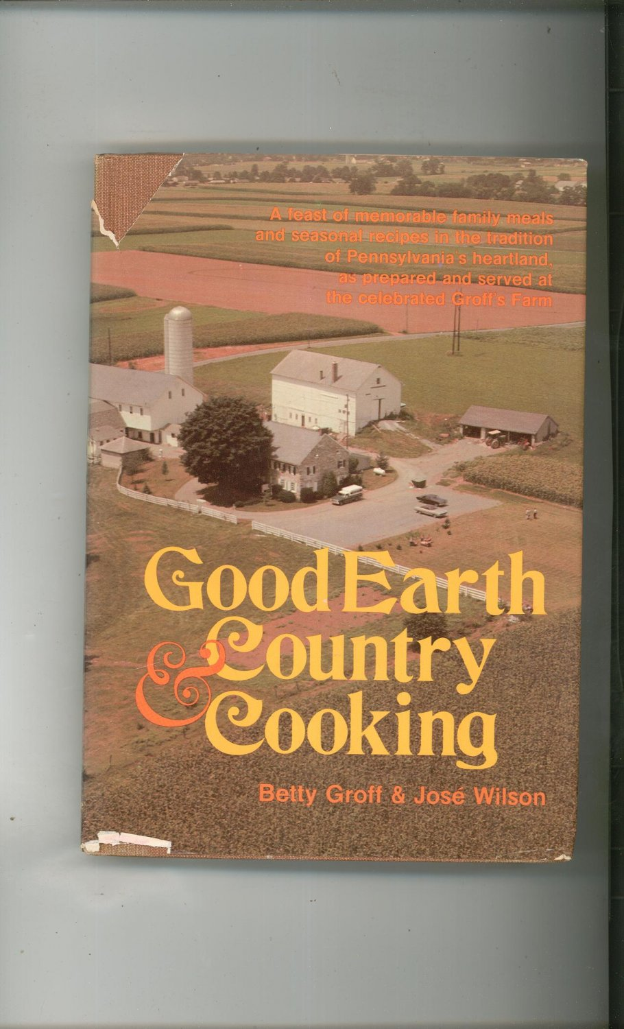Country Cookbook Cover : Good earth country cooking cookbook hard cover