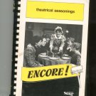 Theatrical Seasonings Encore Cookbook Regional New York Stage Guild 0961233001
