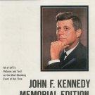 Life Magazine John F. Kennedy Memorial Edition Back Issue 1963
