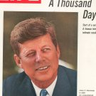 Life Magazine Kennedy A Thousand Days Back Issue  July 1965