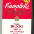 Campbell's Creative Cooking With Soup Cookbook Hard Cover  0517452502