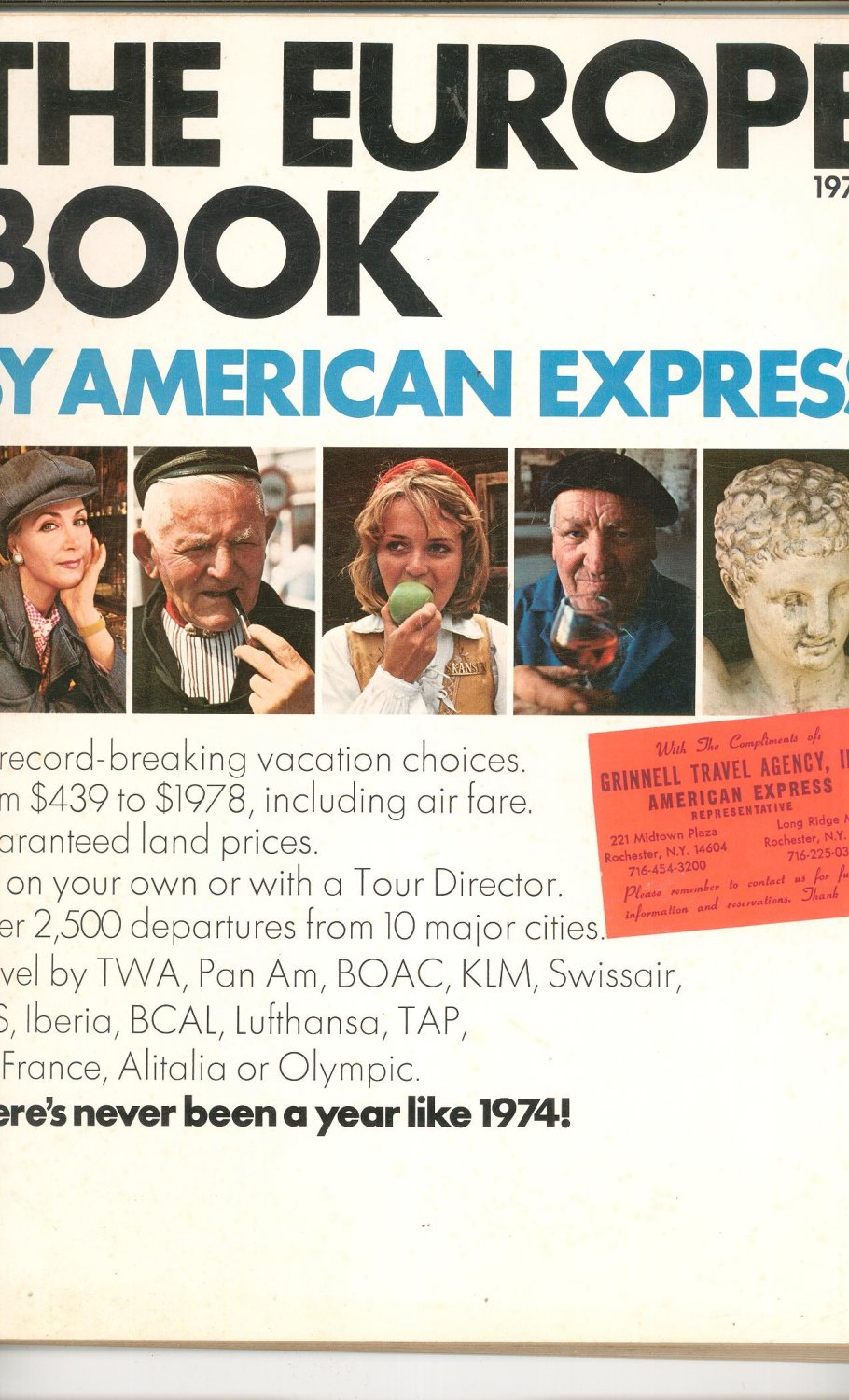 The Europe Book By American Express Travel Guide Vintage 1974