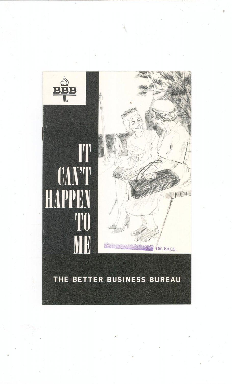 Vintage Better Business Bureau It Can't Happen To Me 1964