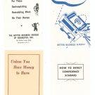 Vintage Lot Of 4 Better Business Bureau Pamphlets