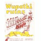 Vintage Wupatki Ruins Travel Guide Arizona  1954