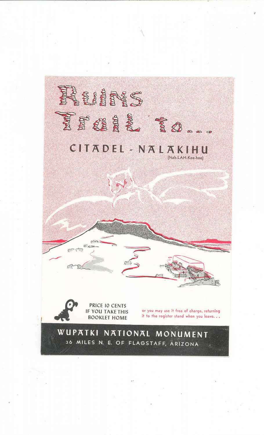 Vintage Ruins Trail To Citadel Nalakihu Travel Guide Arizona  1955