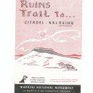Vintage Ruins Trail To Citadel Nalakihu Travel Guide Arizona  1955