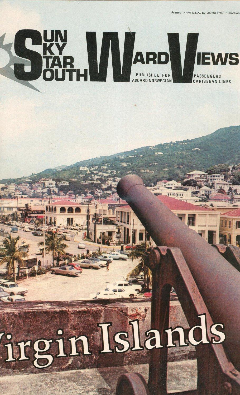 Vintage Norwegian Caribbean Lines Ocean Press Sun Sky Star Southward Views 1972