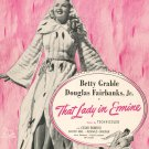 This Is The Moment Sheet Music Vintage That Lady In Ermine Miller Music Corp.