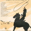 Round Up Memories Music Book Vintage Songs Of The Hills And Range Shapiro Bernstein & Co.