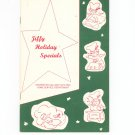 Jiffy Holiday Specials Cookbook Regional New York Rochester Gas & Electric RGE