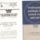Professional Methods For Record Care & Use by Cecil Watts Vintage With Brochure
