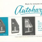 Music For Everyone On The Autoharp Manual & Music Schmidt With Warranty Card Plus