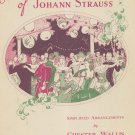 The Famous Waltzes Of Johann Strauss Simplified Arrangements by Chester Wallis Vintage Boston Music