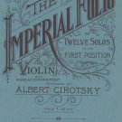The Imperial Folio Of Twelve Solos In First Position by Albert Cirotsky Vintage Santos