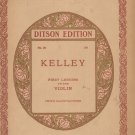 Ditson Edition Kelley Number 29 First Lessons On The Violin Vintage