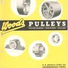 Wood's Pulleys Blocks Couplings Collars Catalog / Bulletin Vintage 1955